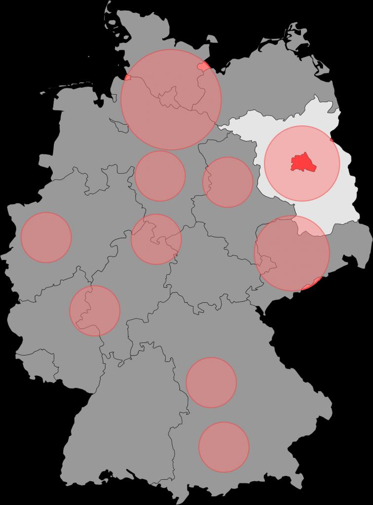 Deutschlandkarte Einsatzgebiete