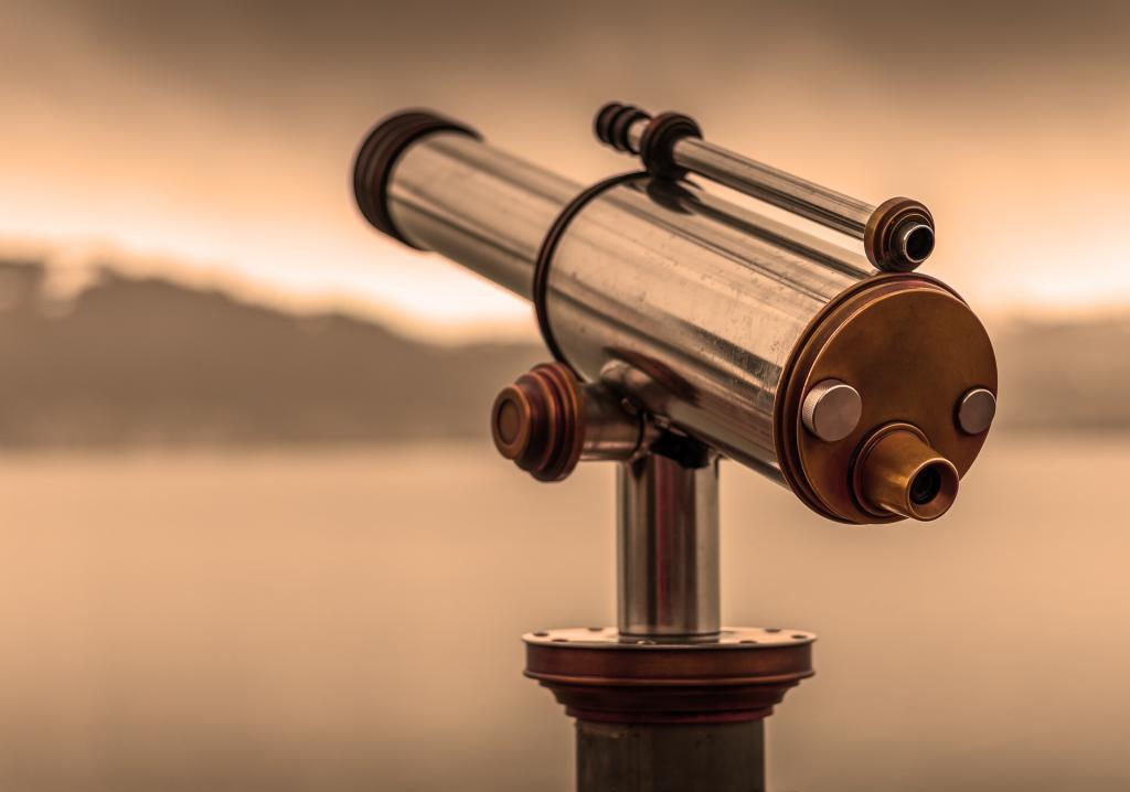 Mit einem Teleskop sieht man mehr - weiter.